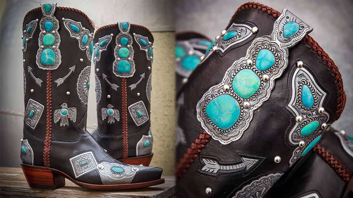 rocketbuster turquoise boots cowgirl magazine