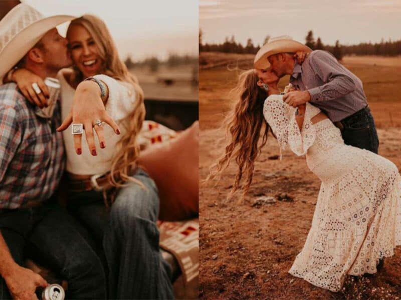 west desperado engaged engagement shaley Ham cowgirl Magazin