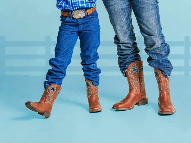 Justin Kids boots Justin brands like father like son cowgirl magazine
